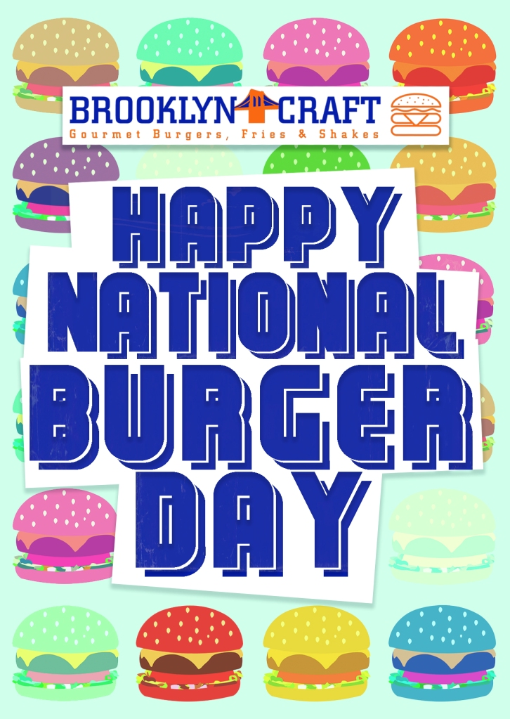 Brooklyn Craft National Burger Day Poster